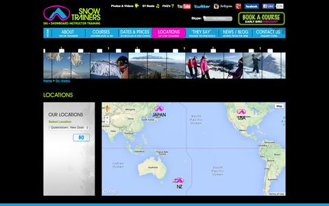 Screenshot of Locations Page snowtrainers.com - Ski Niseko | Ski Queenstown | Ski Colorado - Snow Trainers - captured Oct. 26, 2014