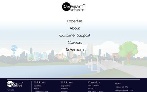 Screenshot of Menu Page daysmart.com - menu - - captured June 14, 2019