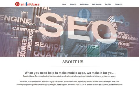 Screenshot of About Page braininfobase.com - India To Cross U.S. Become Second-Largest Internet Market Soon - Brininfobase Technologies - captured Feb. 8, 2016