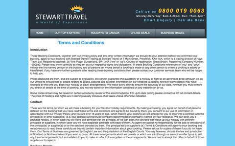 Screenshot of Terms Page stewarttravel.co.uk - Booking Terms - captured Oct. 7, 2014
