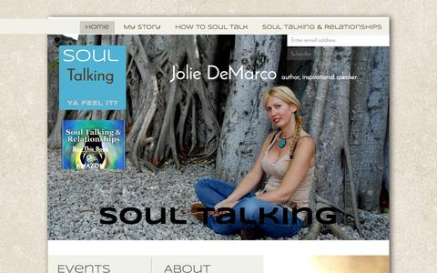 Screenshot of Home Page soultalkingjolie.com - Soul Talking Technique TM Home - captured Sept. 11, 2015