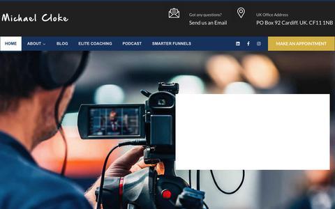 Screenshot of Home Page michaelcloke.com - Michael Cloke | Marketing Consultant | United Kingdom - captured Jan. 12, 2020