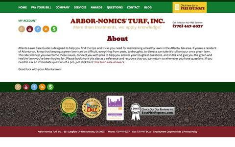 Screenshot of About Page arbor-nomics.com - About | Arbor-Nomics - captured Nov. 4, 2015