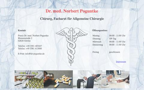 Screenshot of Home Page dr-poguntke.de - Startseite - captured June 10, 2016