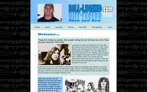 Screenshot of Home Page bill-legend.com - Bill Legend - T.Rex Drummer - captured Oct. 30, 2018