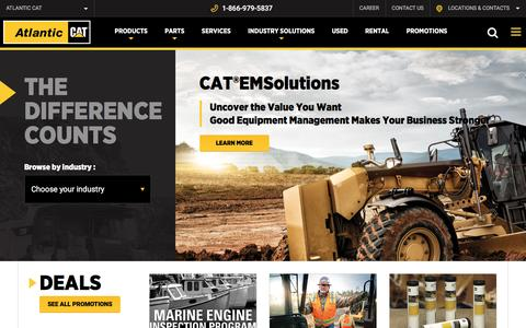 Screenshot of Home Page atlcat.ca - Atlantic cat | Authorized Caterpillar dealer - Atlantic Cat - captured May 19, 2016