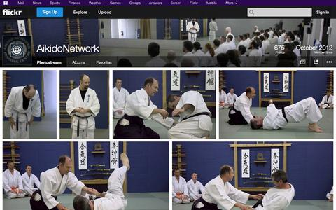 Screenshot of Flickr Page flickr.com - Flickr: AikidoNetwork's Photostream - captured Oct. 23, 2014