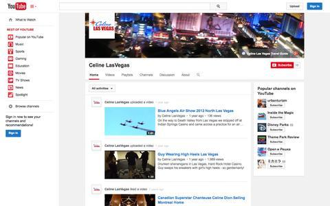Screenshot of YouTube Page youtube.com - Celine LasVegas  - YouTube - captured Oct. 22, 2014