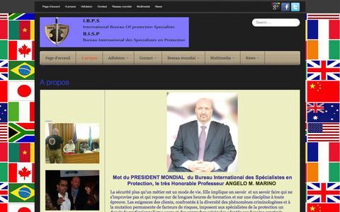 Screenshot of About Page ibps-bisp.com - A propos - IBPS - BISP - captured Oct. 6, 2014