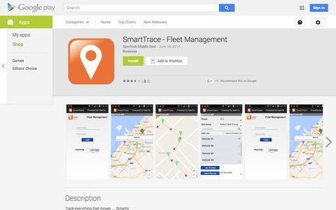 Screenshot of Android App Page google.com - SmartTrace - Fleet Management - Android Apps on Google Play - captured Oct. 23, 2014