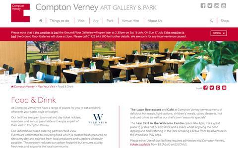 Screenshot of Menu Page comptonverney.org.uk - Food & Drink | Compton Verney - captured July 15, 2016