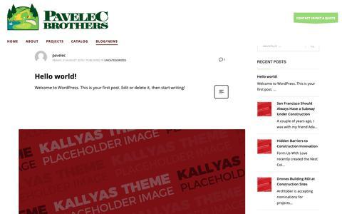 Screenshot of Blog pavelecbrothers.com - Blog – Pavelec Brothers - captured Sept. 27, 2018