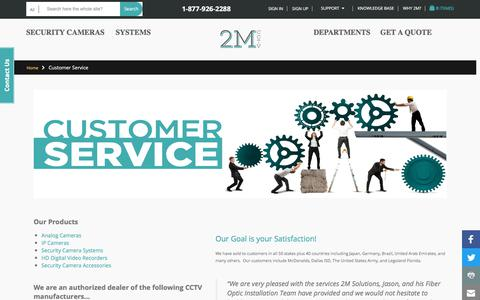 Screenshot of Support Page 2mcctv.com - customer service - captured Sept. 20, 2017