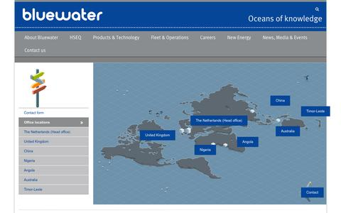 Screenshot of Locations Page bluewater.com - Office locations – Bluewater - captured Feb. 7, 2016