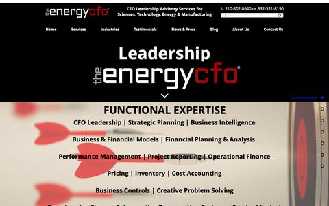 Screenshot of Team Page theenergycfo.com - Who We Are | Leadership | The Energy CFO - captured Oct. 18, 2018