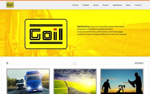 Screenshot of Home Page goil.it - GOIL :: PETROLI S.p.a. - captured Oct. 1, 2014