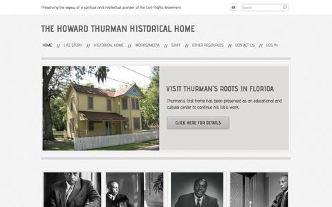 Screenshot of Home Page howardthurmanhome.org - The Howard Thurman Historical Home - Home - captured April 23, 2018