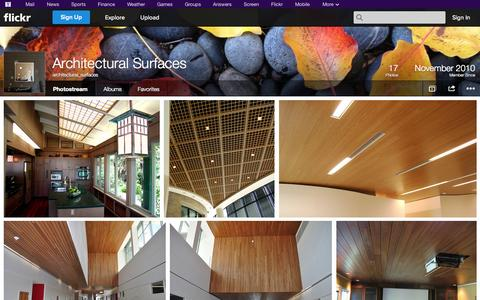 Screenshot of Flickr Page flickr.com - Flickr: architectural_surfaces' Photostream - captured Oct. 23, 2014
