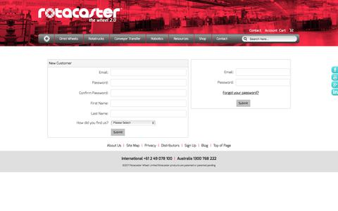 Screenshot of Login Page rotacaster.com.au - Contact Rotacaster Wheel Limited - captured June 19, 2017
