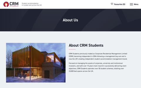 Screenshot of About Page crm-students.com - About Us - CRM Students - captured Nov. 4, 2018