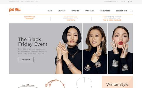 Screenshot of follifollie.us.com - Folli Follie USA Official Shop - Trendy Fashion Jewelry for Women | Watches, Handbags & More - captured Nov. 25, 2016