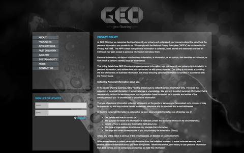 Screenshot of Privacy Page geoflooring.com.au - Privacy Policy | Geo Flooring - captured Oct. 1, 2014