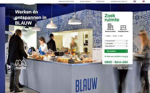 Screenshot of Home Page merin.nl - Merin verrast met oplossingen voor bedrijfshuisvesting - - captured June 17, 2015