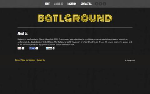 Screenshot of About Page batlground.com - About Us - Batlground - captured Oct. 5, 2014