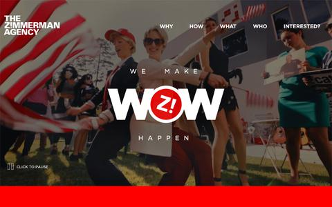 Screenshot of Home Page zimmerman.com - The Z!mmerman Agency - Tallahassee Advertising Agency | PR | Creative - captured Oct. 18, 2018
