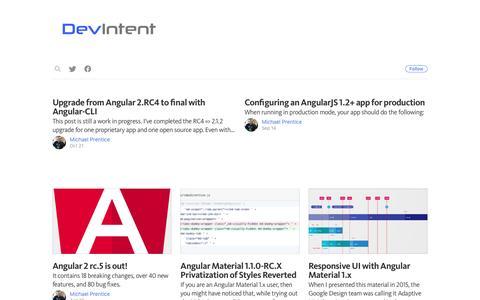 Screenshot of Blog devintent.com - DevIntent - captured Nov. 24, 2016