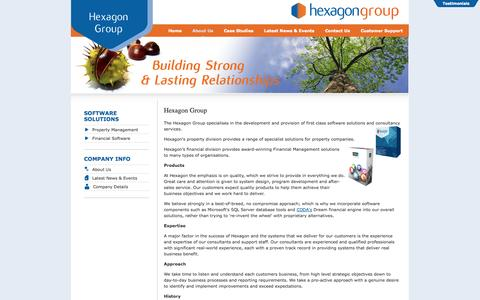 Screenshot of About Page hexagon.co.uk - Hexagon Software Group - About Us - captured Oct. 2, 2014