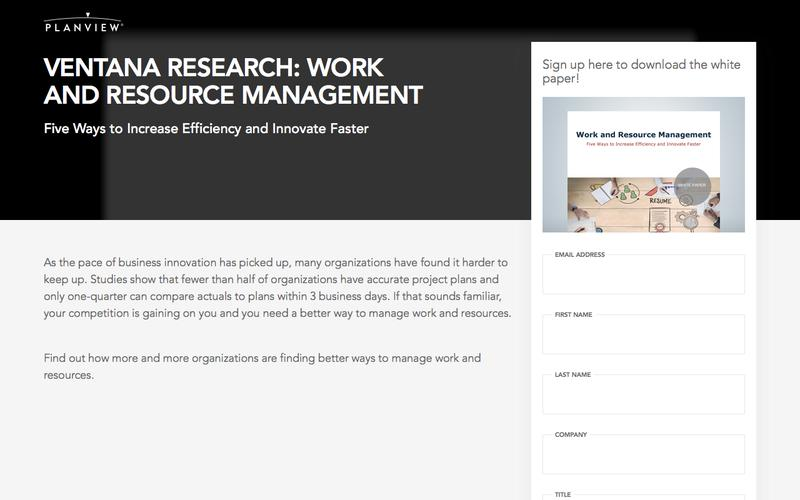 Ventana Research: Work and Resource Management