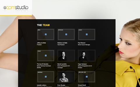 Screenshot of Team Page e-comstudio.com - Team  |  E-commerce Photography | E-Commerce Photographer | Product Photography - captured Sept. 26, 2014
