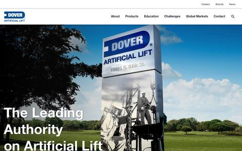 Screenshot of Home Page Privacy Page doverals.com - Artificial Lift | Dover Artificial Lift - captured June 6, 2017