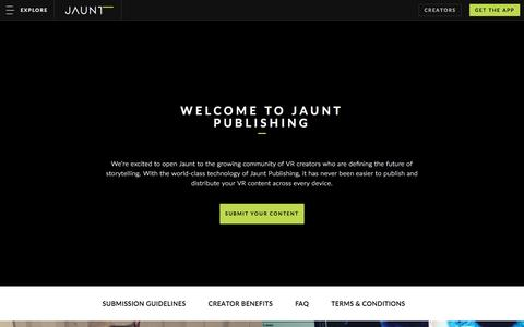 Welcome to the Jaunt Network
