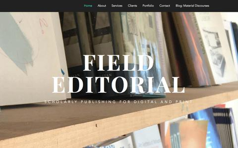 Screenshot of Home Page field-editorial.com - field-editorial - captured June 5, 2017
