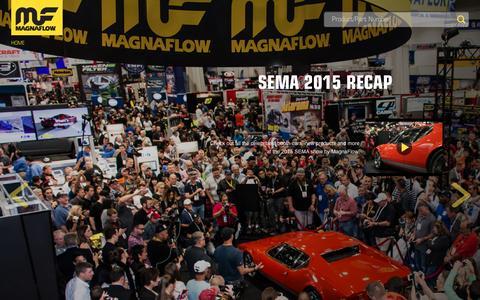 Screenshot of Home Page magnaflow.com - Home - captured Dec. 21, 2015
