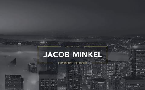 Screenshot of Home Page jacobminkel.com - Jacob Minkel - Seattle UX/UI Designer - captured Nov. 18, 2016