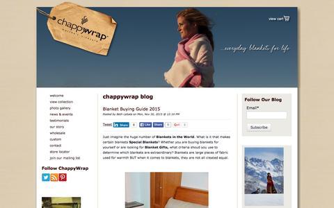 Screenshot of Blog chappywrap.com - The Best Blanket Blog - captured Dec. 8, 2015
