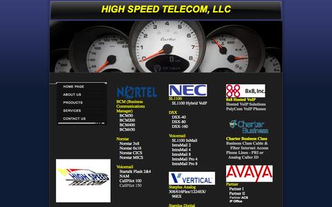 Screenshot of Products Page highspeedtele.com - High Speed Telecom, LLC - Products - captured Oct. 3, 2014