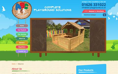 Screenshot of About Page abc-playgrounds.co.uk - About Us | ABC Playgrounds - captured Jan. 29, 2016