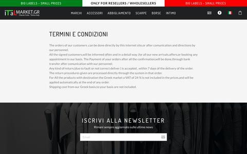 Screenshot of Terms Page italmarket.gr - Italmarket -          Distribuzione Abbigliamento Griffato | Ingrosso Stock | Stock Grossisti - captured Oct. 2, 2018