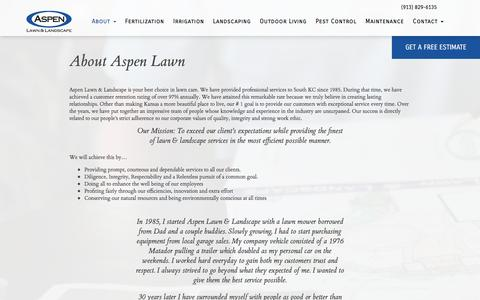 Screenshot of About Page aspenlawn.com - About Aspen Lawn - Aspen Lawn - captured Nov. 21, 2016
