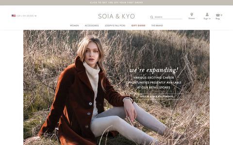 Screenshot of Jobs Page soiakyo.com - Careers at SOIA & KYO   SOIA & KYO - captured Dec. 8, 2018