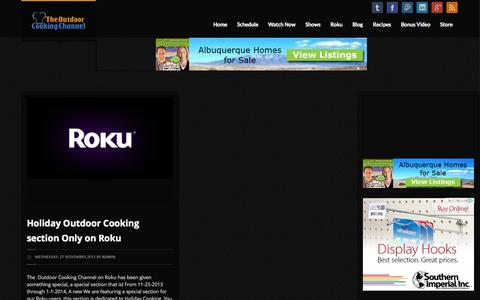 Screenshot of Press Page outdoorcookingchannel.com - Outdoor Cooking Channel | News - captured Oct. 9, 2014