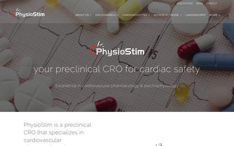 Screenshot of About Page physiostim.com - preclinical CRO for cardiac safety studies | PhystioStim - captured July 18, 2018