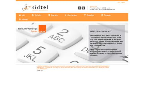 Screenshot of Home Page sidtel.com - SidtelCat - captured Nov. 13, 2017