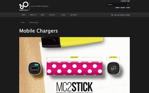 Screenshot of Products Page smartoools.com - Smartoools Ń Mobile Chargers - captured Dec. 19, 2015