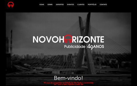 Screenshot of Home Page novoh.com.br - Novo Horizonte - Agência de Publicidade - captured Feb. 24, 2016