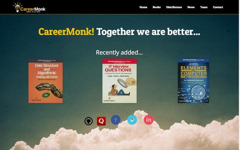 Screenshot of Home Page careermonk.com - CareerMonk Publications - Interview Questions and Books - captured July 19, 2015
